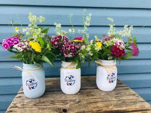 Exemples de bouquets en pot